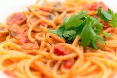 Spaghettiteigwaren vongole Lizenzfreies Stockfoto
