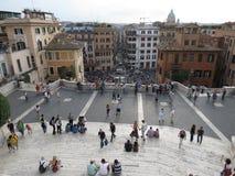 spagna Di piazza Ρώμη Στοκ Εικόνες