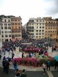 Spagna för Roma blommarosor plaza Royaltyfria Bilder