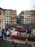Spagna för Roma blommarosor plaza Arkivfoto
