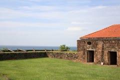 Spagnolo anziano della fortificazione a Trujillo immagini stock