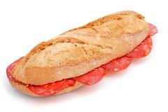 Spagnolo bocadillo de chorizo, un panino del chorizo Immagine Stock Libera da Diritti