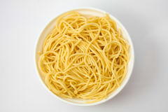 Spaguetti in i krukan royaltyfria bilder