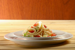 Spaguetti recipe Stock Image