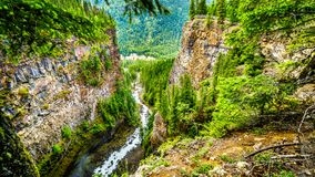 Spahats Creek in Wells Gray Provincial Park, British Columbia, Canada Royalty Free Stock Images