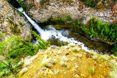 Spahats Falls in Wells Gray Provincial Park, British Columbia, Canada Stock Photography