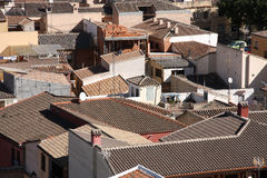 Spain. Mediterranean red roofed architecture - aerial view in Toledo, Spain Stock Image