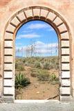 Spain. Vintage door view - Cabo de Gata natural park in Andalusia, Spain Stock Photos