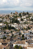 Spain. Granada in Spain. A beautiful view from a typical Andalusian village stock image