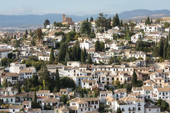 Spain. Granada in Spain. A beautiful view from a typical Andalusian village royalty free stock photography