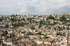 Spain. Granada in Spain. A beautiful view from a typical Andalusian village stock photos