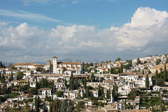 Spain. Granada in Spain. A beautiful view from a typical Andalusian village royalty free stock images