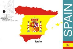 spain royaltyfri illustrationer