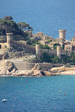 Spain. Tossa de Mar fortress in the Costa Brava, Spain royalty free stock photos
