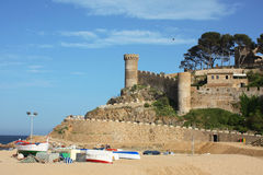 Spain. Tossa de Mar fortress in the Costa Brava, Spain royalty free stock images