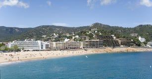 Spain. A Beach In The Resort Tossa De Mar. Royalty Free Stock Photos