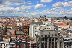 Spain. Aerial view of the city of Madrid Royalty Free Stock Photos