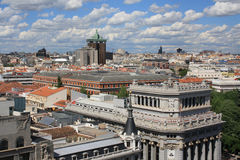 Spain. Aerial view of the city of Madrid Royalty Free Stock Photography
