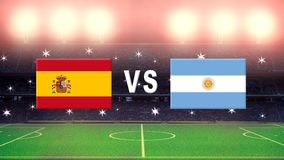 Spain against Argentina Stock Images