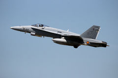 Spain Air Force F/A-18 Hornet fighter jet airplane Royalty Free Stock Photography