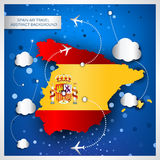 Spain air travel abstract background Stock Photography