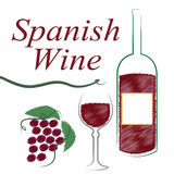 Spain Alcohol Indicates Intoxicating Drink And Booze. Spanish Wine Showing Intoxicating Drink And Winetasting Stock Images
