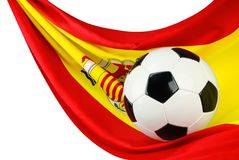 Spain ama o futebol Foto de Stock Royalty Free
