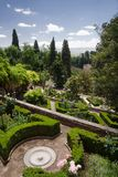 Botanical garden at Alhambra stock photography