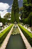 Botanical garden at Alhambra stock photo