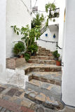 Spain, Andalusia, Casares. View from Casares, one of pueblos blancos in Andalusia Stock Images