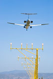 Spain,Andalusia,Malaga,Airplane landing Stock Images