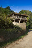 Spain, Asturias, Cornellana, horreo - traditional barn Stock Photo