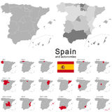 Spain and autonomies Stock Image