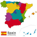 Spain and autonomies Royalty Free Stock Image