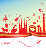 Spain background Stock Photography