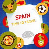 Spain background template Royalty Free Stock Photography