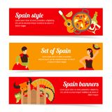 Spain banners set Stock Photos