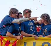 Spain, Barcelona - 13 May 2011: Celebration of FC Stock Images