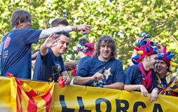 Spain, Barcelona - 13 May 2011: Celebration of FC Royalty Free Stock Photo
