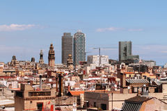 Spain, Barcelona. Barcelona is the capital city of the autonomous community of Catalonia in Spain and Spain's second most populated city Stock Photos
