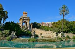 Spain Barcelona Fountain Royalty Free Stock Photos