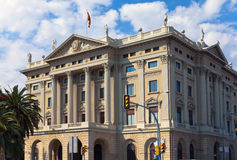 Spain. Barcelona. Military Government Building.Close up Stock Image