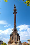 Spain. Barcelona. Monument of Columbus.Cityscape Stock Photo