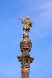 Spain. Barcelona. Monument of Columbus.Close up in a sunny day Stock Photo