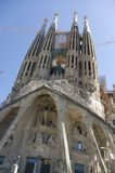Spain. Barcelona. Sagrada Familia. Stock Photos