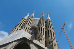 Spain Barcelona Sagrada Familia Stock Photos