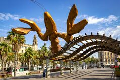 Gambrinus - giant happiest lobster sculpture at the Port Olympic