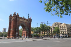 Spain Barcelona street view Stock Photography