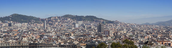 Spain. Barcelona. The top view on a city Stock Image