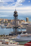 Spain. Barcelona. The top view on seaport. Royalty Free Stock Photos